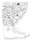Fantasy Sneakers Coloring Page