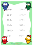 2 Digit Subtraction Practice Bundle Vol 1.