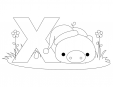 Alphabet Coloring Pages - X