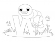 Alphabet Coloring Pages - W