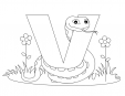 Alphabet Coloring Pages - V