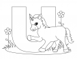 Alphabet Coloring Pages – U