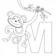 Alphabet Coloring Pages – M