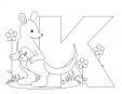 Alphabet Coloring Pages – K