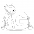 Alphabet Coloring Pages – G
