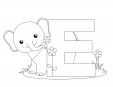 Alphabet Coloring Pages – E