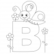 Alphabet Coloring Pages – B