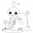 Alphabet Coloring Pages – A