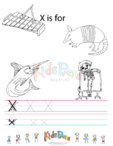 Alphabet Tracing Worksheet – X