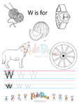 Alphabet Tracing Worksheet – W