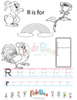 Alphabet Tracing Worksheet – R