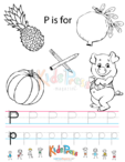 Alphabet Tracing Worksheet – P
