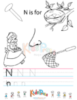 Alphabet Tracing Worksheet – N