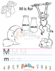 Alphabet Tracing Worksheet – M