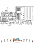 Refrigerator Truck Coloring Page
