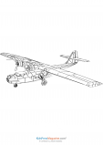 Single Wing Twin Engine Propeller Airplane Printable