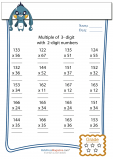 Multiplication Worksheet – 3 digit by 2 digit - #3