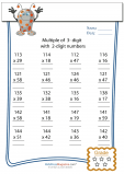 Multiplication Worksheet – 3 digit by 2 digit - #2