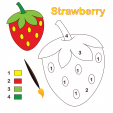 Strawberry Color By Number
