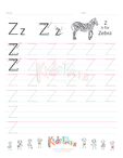 Handwriting Worksheet Letter Z