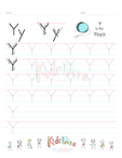 Handwriting Worksheet Letter Y