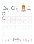 Handwriting Worksheet Letter Q
