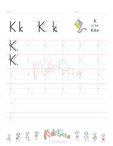 Handwriting Worksheet Letter K