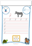 Cursive Writing Worksheet Letter Z