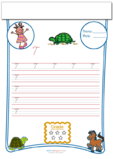 Cursive Writing Worksheet Letter T