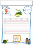 Cursive Writing Worksheet Letter S