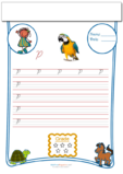 Cursive Writing Worksheet Letter P