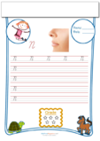 Cursive Writing Worksheet Letter N