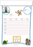 Cursive Writing Worksheet Letter M