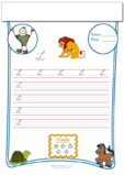 Cursive Writing Worksheet Letter L