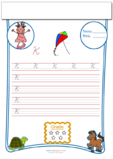 Cursive Writing Worksheet Letter K