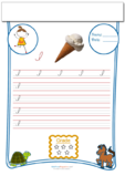 Cursive Writing Worksheet Letter I