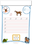 Cursive Writing Worksheet Letter G
