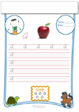 Cursive Writing Worksheet Letter A