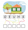 House Find The Word Activity Sheet