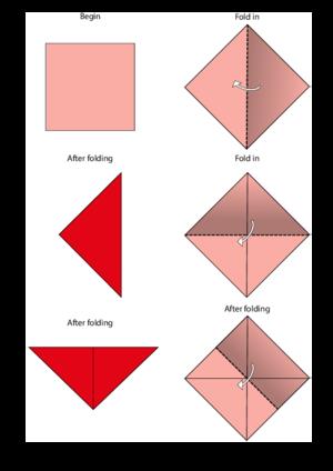rabbit origami instructions (con imágenes) | Instrucciones de ... | 424x300