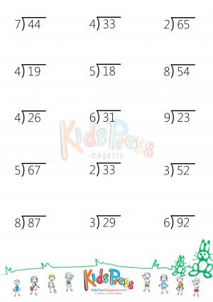Number Names Worksheets division without remainders worksheets : Division with Remainders Worksheet - KidsPressMagazine.com