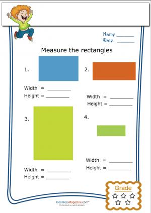 Basic Geometry Worksheet Rectangle Measurement 3