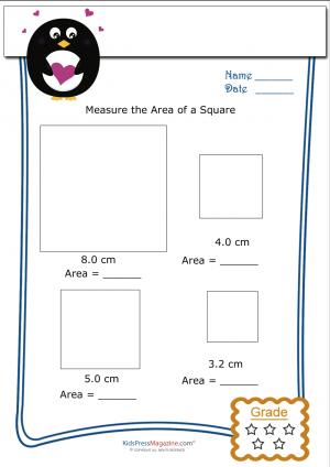 Measuring Area Worksheet Square 3 Kidspressmagazine