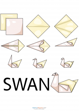 Animals origami archives for Origami swan folding instructions