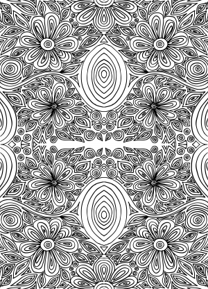 doodle coloring page intricate flowers 2