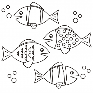 ocean fish coloring pages jelly fish coloring page simple coral reef