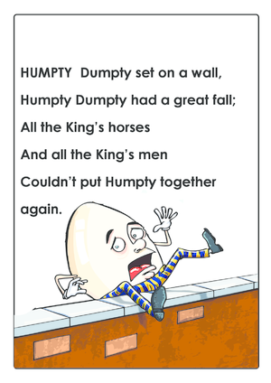 Nursery rhymes archives page 2 of 2 kidspressmagazine humpty dumpty nursery rhyme pronofoot35fo Image collections