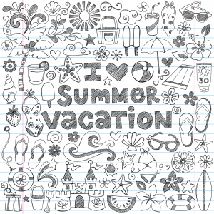 Summer Vacation Doodle Page