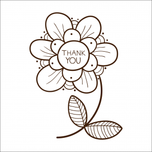coloring pages thank you card - photo#36