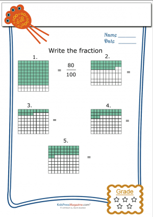 how to write a fraction as an integer